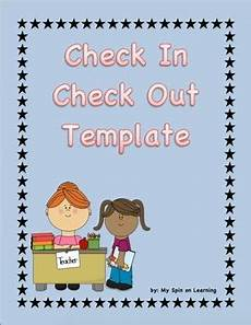 check out 17 simple 2 check in check out sheet 2 by my spin on learning tpt