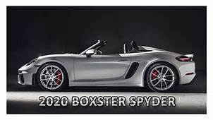2020 Porsche 718 Boxster Spyder  Dream Cars YouTube