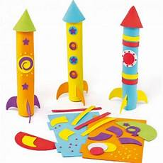 rakete basteln vorlage children s craft workshop build a 3d foam rocket