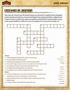 science worksheets third grade free printable 12403 crossword on landforms 3rd grade science worksheets sod
