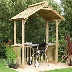 Wooden Garden Patio Bbq Canopy Shelter Westmount