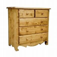 commode bois massif pietement chantourne