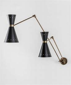 black and brass double wall sconce for sale at 1stdibs