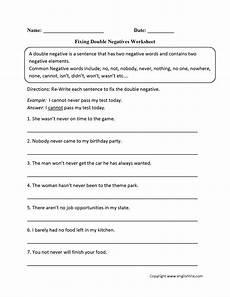 double negative sentences worksheets word usage worksheets negatives worksheets
