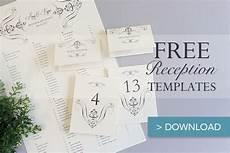 wedding reception card templates free printable wedding reception templates the budget
