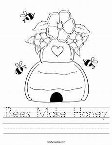 bees worksheet bees make honey worksheet twisty noodle