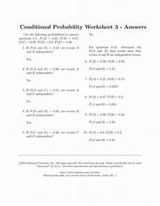 conditional probability worksheet with answers 5933 conditional probability worksheet 3 answers