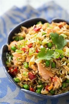 salmon fried rice recipe simplyrecipes com