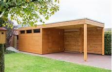 design gartenhaus aus l 228 rchenholz mit einem vordach