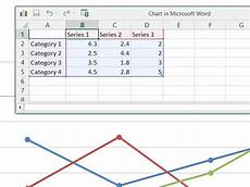 how to make a line graph in microsoft word ehow