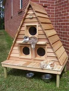 feral cat house plans diy ideas for making cats houses and dog house designs