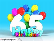 65 geburtstag bild happy birthday mit ballons