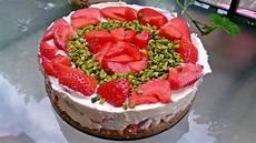 Erdbeer Cheesecake Mit Schokowaffel Boden Ohne Backen