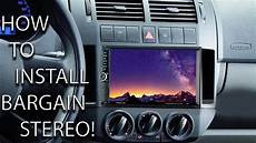 how to install 2din stereo in vw polo review on budget