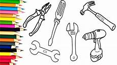 how to draw tools repair coloring pages for