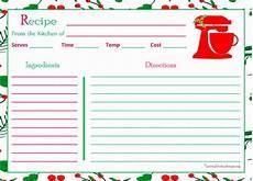standardized recipe card template gantt chart