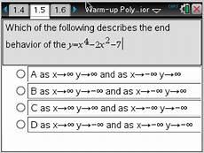 eleventh grade lesson graphing polynomials end behavior