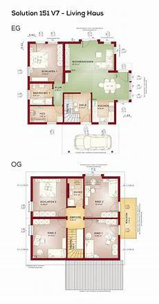 Grundriss Einfamilienhaus Mit Satteldach 6 Zimmer 150