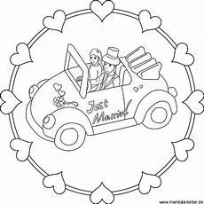 Malvorlagen Hochzeit Auto Just Married Auto Zeichnung Zum Ausdrucken