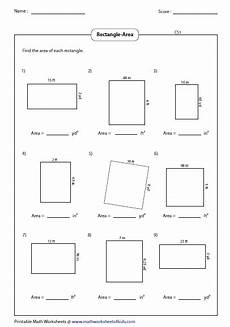 area of a rectangle worksheet rectangle worksheets