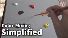 color mixing simplified 01 acrylic oil painting lesson youtube