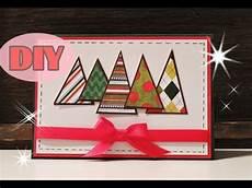 weihnachtskarten selber basteln 2 weihnachtsbaum