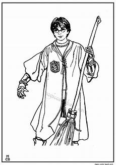 Malvorlagen Harry Potter Quidditch Quidditch Player Harry Potter With Firebolt Coloring Page
