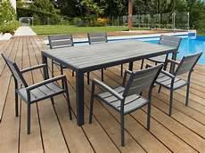 table de jardin metal alinea