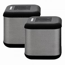 bluetooth lautsprecher stereo magnavox dual dsp 360 bluetooth stereo speakers