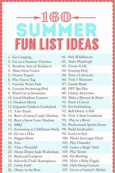 activity list 160 summer fun list ideas the crafting chicks