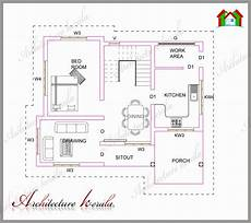 small house plan in kerala a small kerala house plan architecture kerala