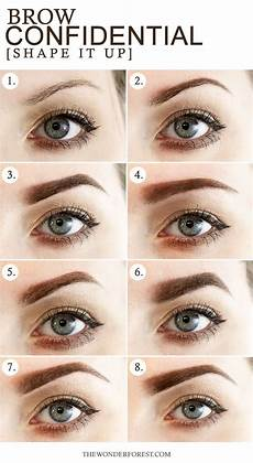 Augenbrauen Formen Gesichtsform - best 25 different eyebrow shapes ideas on