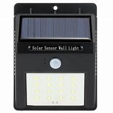 16 led solar wall light pir motion sensor outdoor waterproof energy saving garden street l