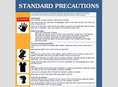 cdc contact precautions guideline poster