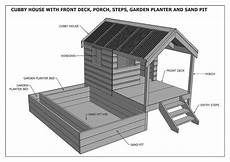 free cubby house plans cubby house sand pit combo build with your children