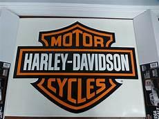 harley davidson bar shield large trailer decal