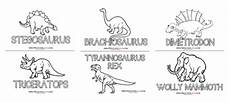 dinosaur coloring pages with names 16805 dinosaur preschool printables