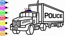 how to draw a truck for race coloring page
