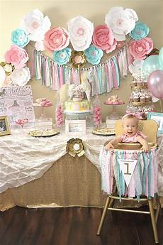 1st birthday decoration themes a pink gold carousel 1st birthday ideas