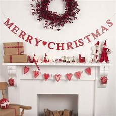 merry christmas wooden garland by the christmas home notonthehighstreet com