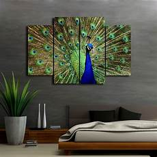 home decor wall painting art hd print canvas the beautiful peacock no frame ebay