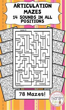 grammar maze worksheets 24882 no prep articulation mazes 14 sounds speech language therapy speech therapy activities
