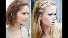 easy front braid hairstyle youtube