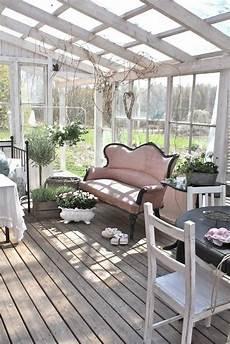 Wintergarten Ideen Gestaltung - wintergarten einrichtung shabby chic skandinavischer stil