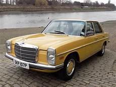 Classic Chrome Mercedes 200d W115 1975 P Yellow