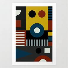 speech at the bauhaus art print by theusualdesigners