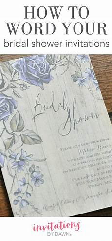 How To Word Wedding Invitation