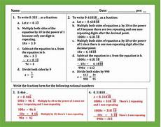decimal expansion worksheets 7117 converting decimal expansions to fractions worksheet teaching and practice fractions