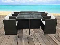 salon de jardin resine tressee marron salon de jardin en r 233 sine tress 233 e marron table plateau