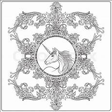 mandala coloring pages unicorn 17978 unicorn in vintage decorative floral stock vector colourbox